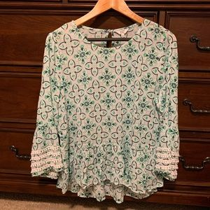 Colorful Crown and Ivy blouse